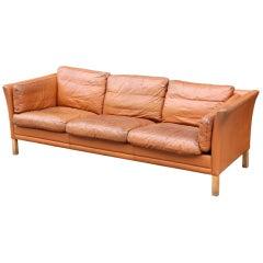 Danish Three-Seat Sofa