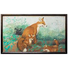 English Pub Sign - Foxes