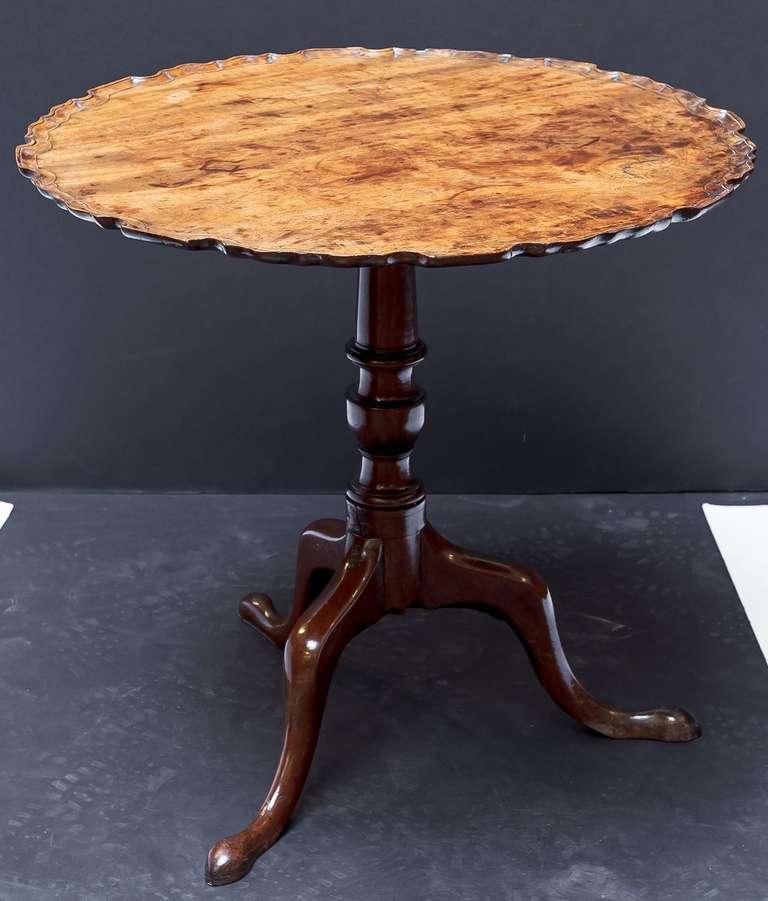 English Pie Crust Tilt Top Tripod Table 2