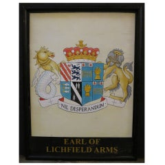 English Pub Sign - Earl of Lichfield Arms