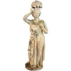 Garden Maiden Statue of Terra Cotta