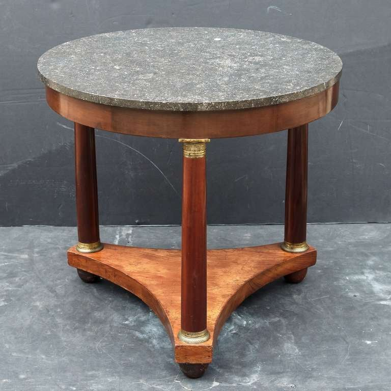 French Marble-Top Table or Guéridon in the Empire Style For Sale 4