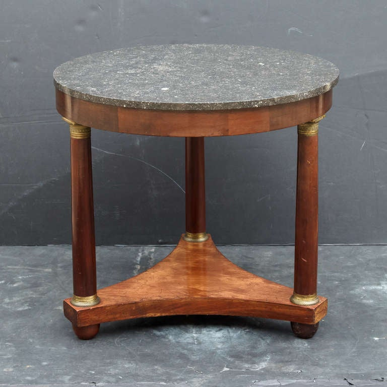 French Marble-Top Table or Guéridon in the Empire Style In Excellent Condition For Sale In Austin, TX