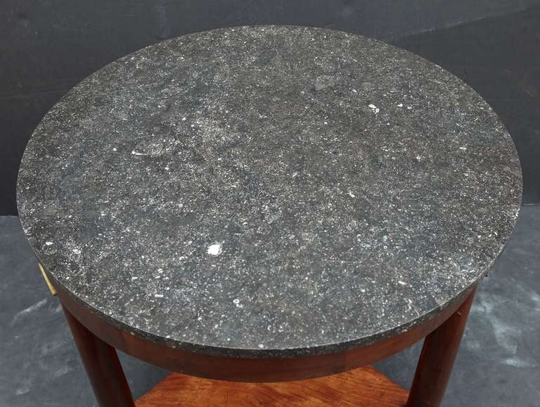 19th Century French Marble-Top Table or Guéridon in the Empire Style For Sale