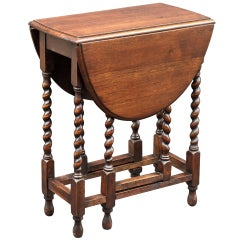 English Drop-Leaf Gate-leg Table