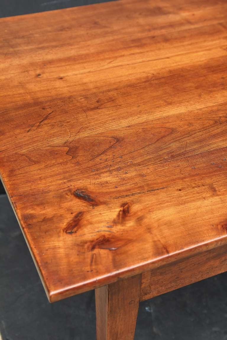 French Farm Table Of Cherry With Two Drawers For Sale At