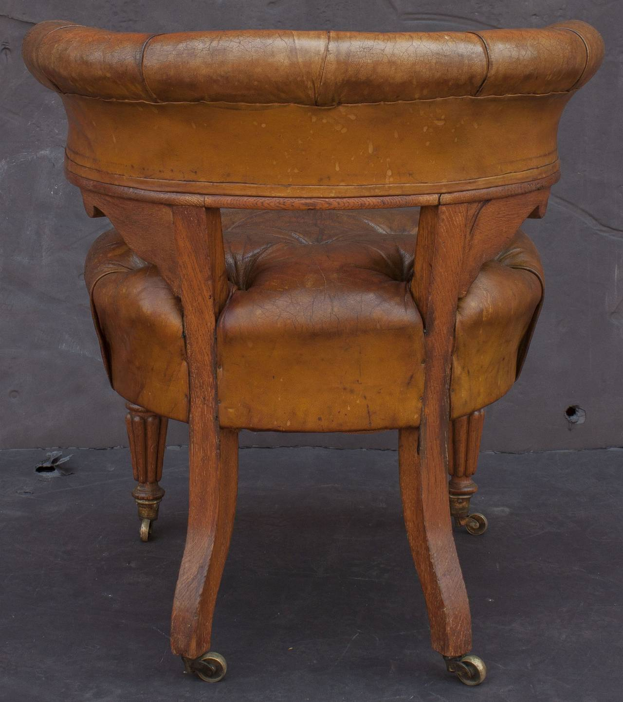 English Tufted Leather Desk Chair For Sale At 1stdibs. Full resolution‎  photo, nominally Width 1280 Height 1443 pixels, photo with #714224.