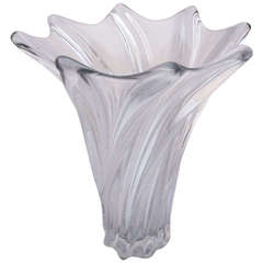 Vannes of Nancy Art Glass Vase