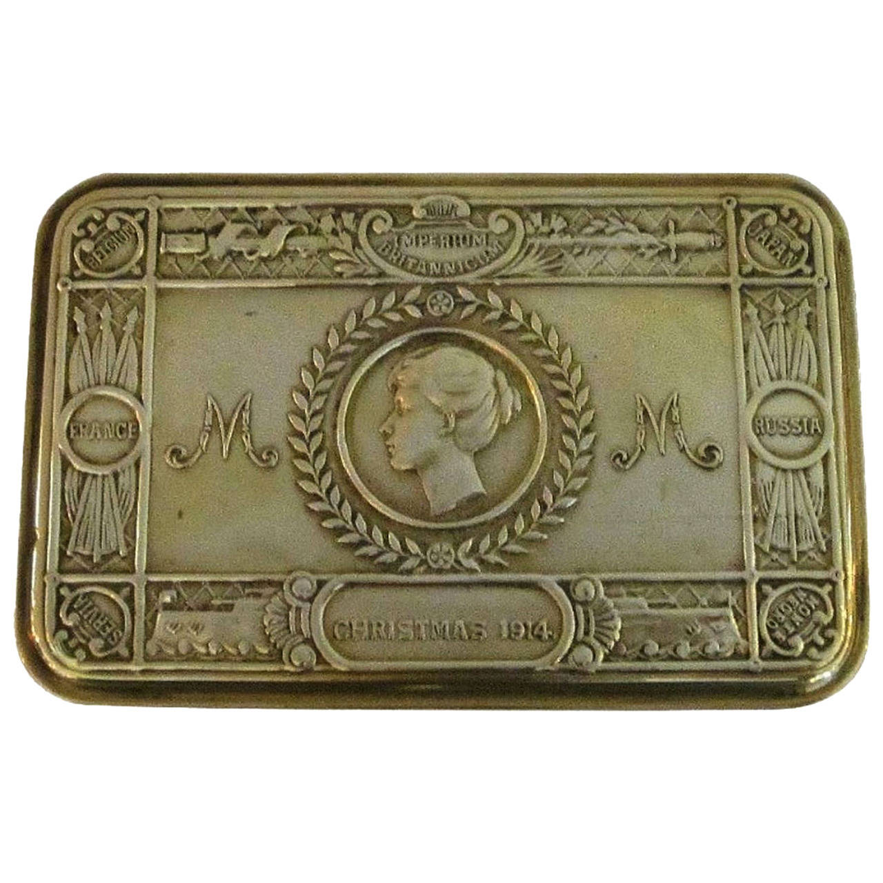 Princess Mary Box, WWI Era, Christmas, 1914 For Sale