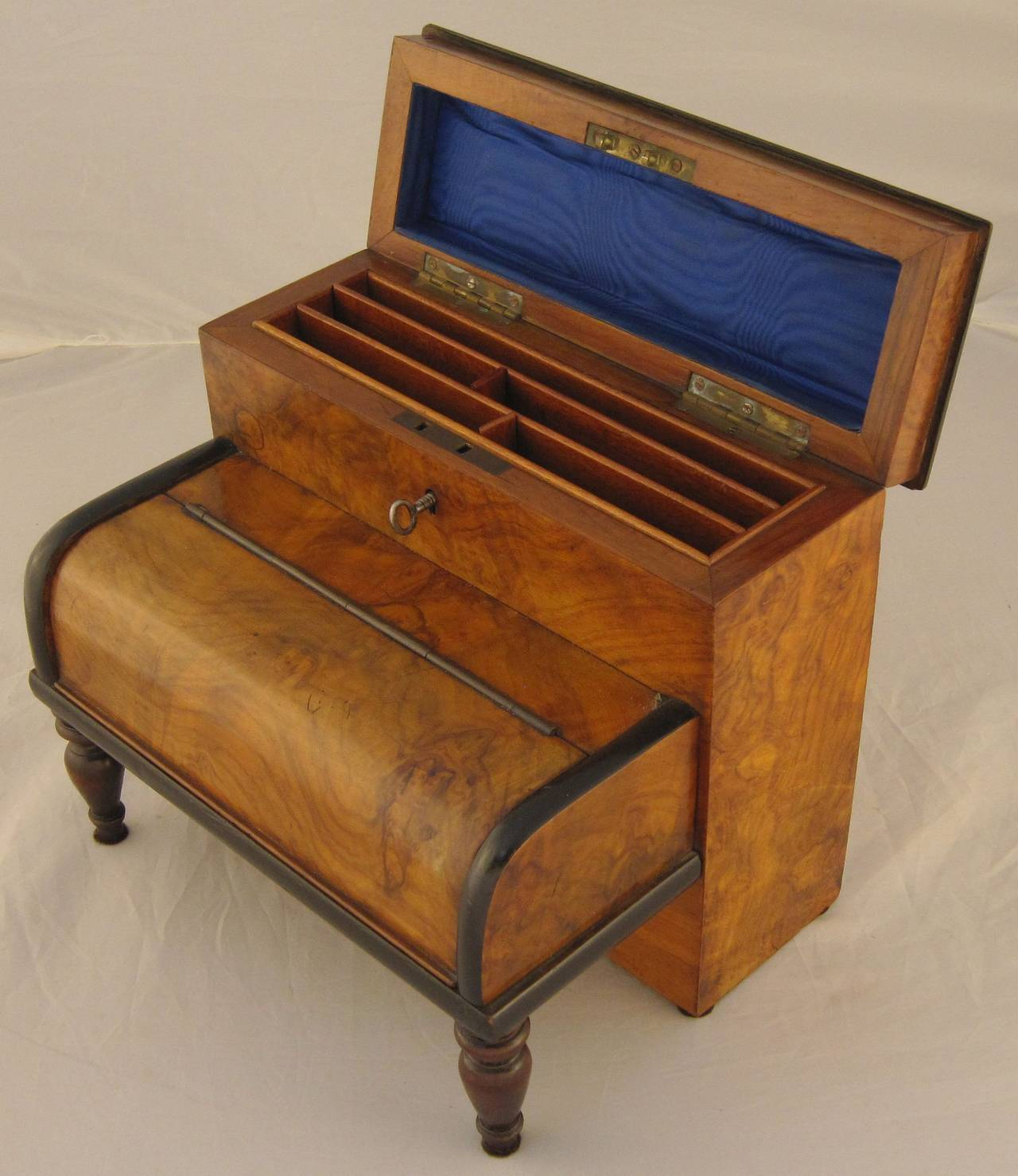 English Desk Set With Inkwells And Stationery Box For 2