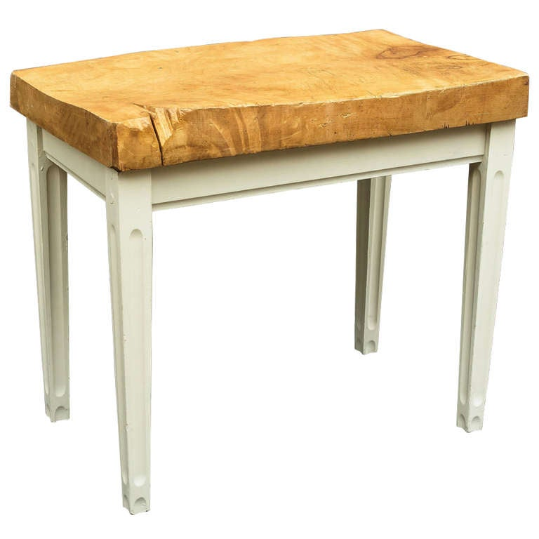 Butcher Block Table Casual Cottage