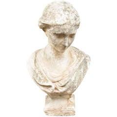Italian Stone Bust of a Lady
