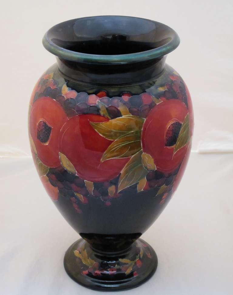 Large Moorcroft Vase With Pomegranate Pattern At 1stdibs