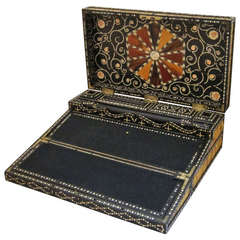 Porcupine Quill Writing Box from the British Raj Colonial India