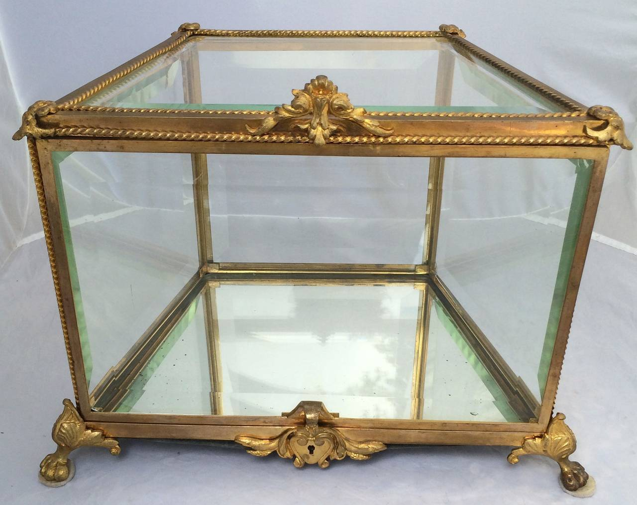 French Tantalus Drinks Set of Gilt Bronze For Sale 4