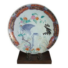 Imari Charger with Cranes