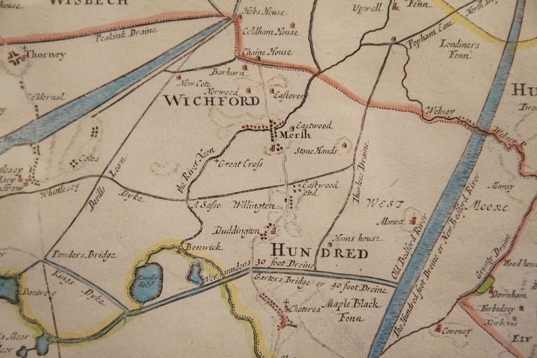 18th Century Map of Cambridgeshire In Excellent Condition In Austin, TX