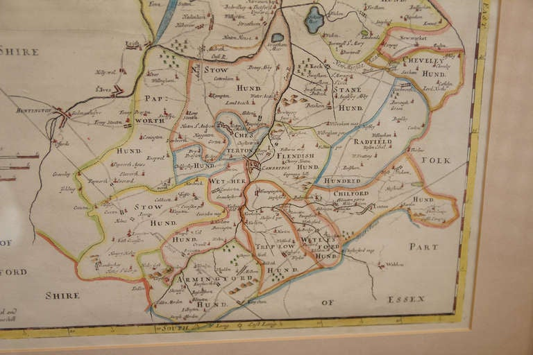 18th Century and Earlier 18th Century Map of Cambridgeshire