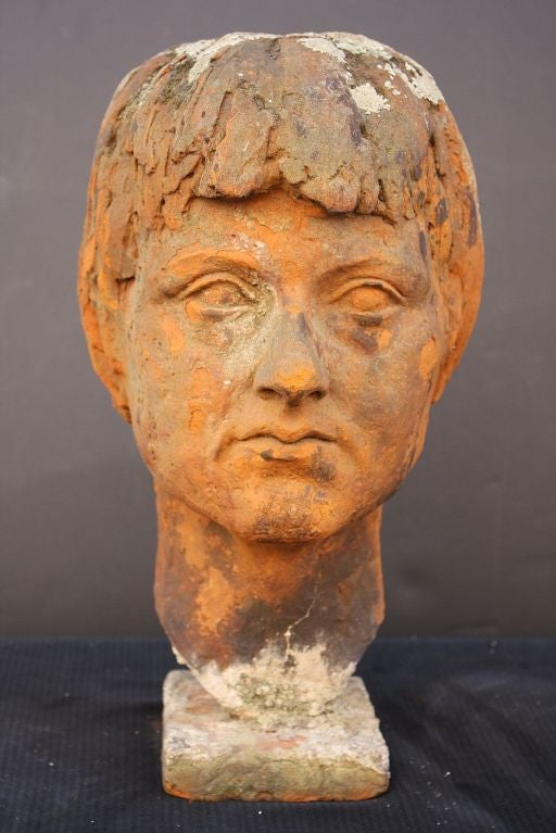 English Bust of  a Woman in Terra Cotta 2