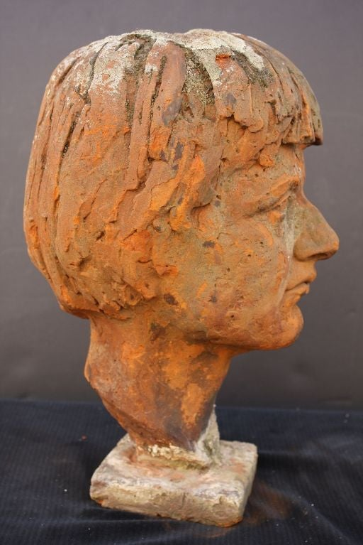 English Bust of  a Woman in Terra Cotta 3