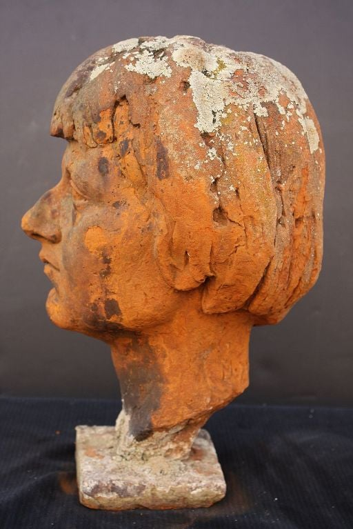 English Bust of  a Woman in Terra Cotta 4