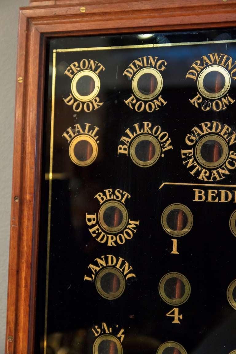 Edwardian Mahogany Butler S Bell Box For Servants At 1stdibs