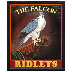English Pub Sign - The Falcon (Ridley's)