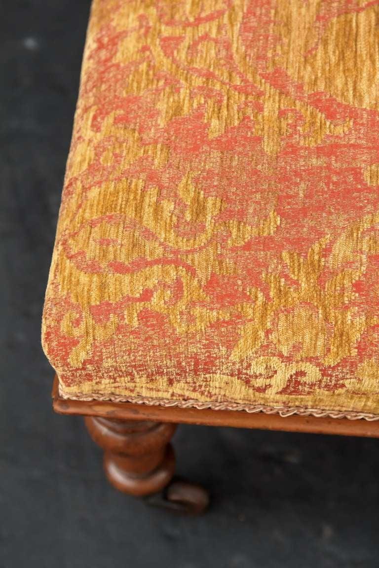 English Upholstered Ottoman Or Stool At 1stdibs