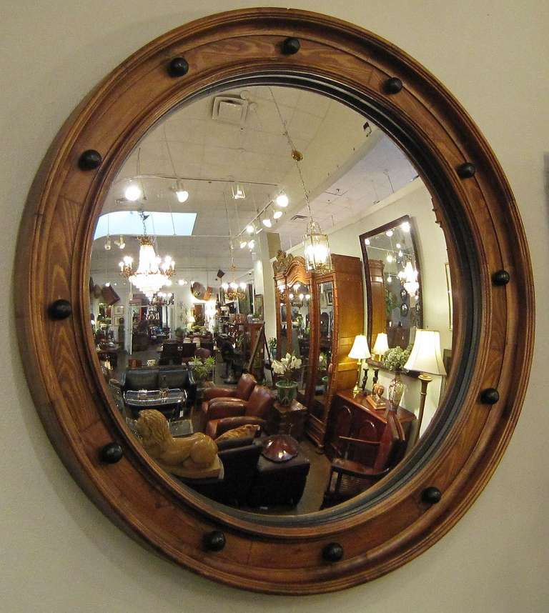 Large English Convex Mirror (58 3/4