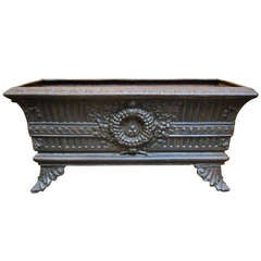 French Low Planter of Cast Iron