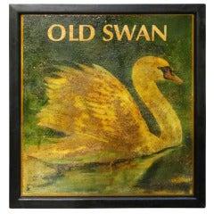 English Pub Sign, Old Swan
