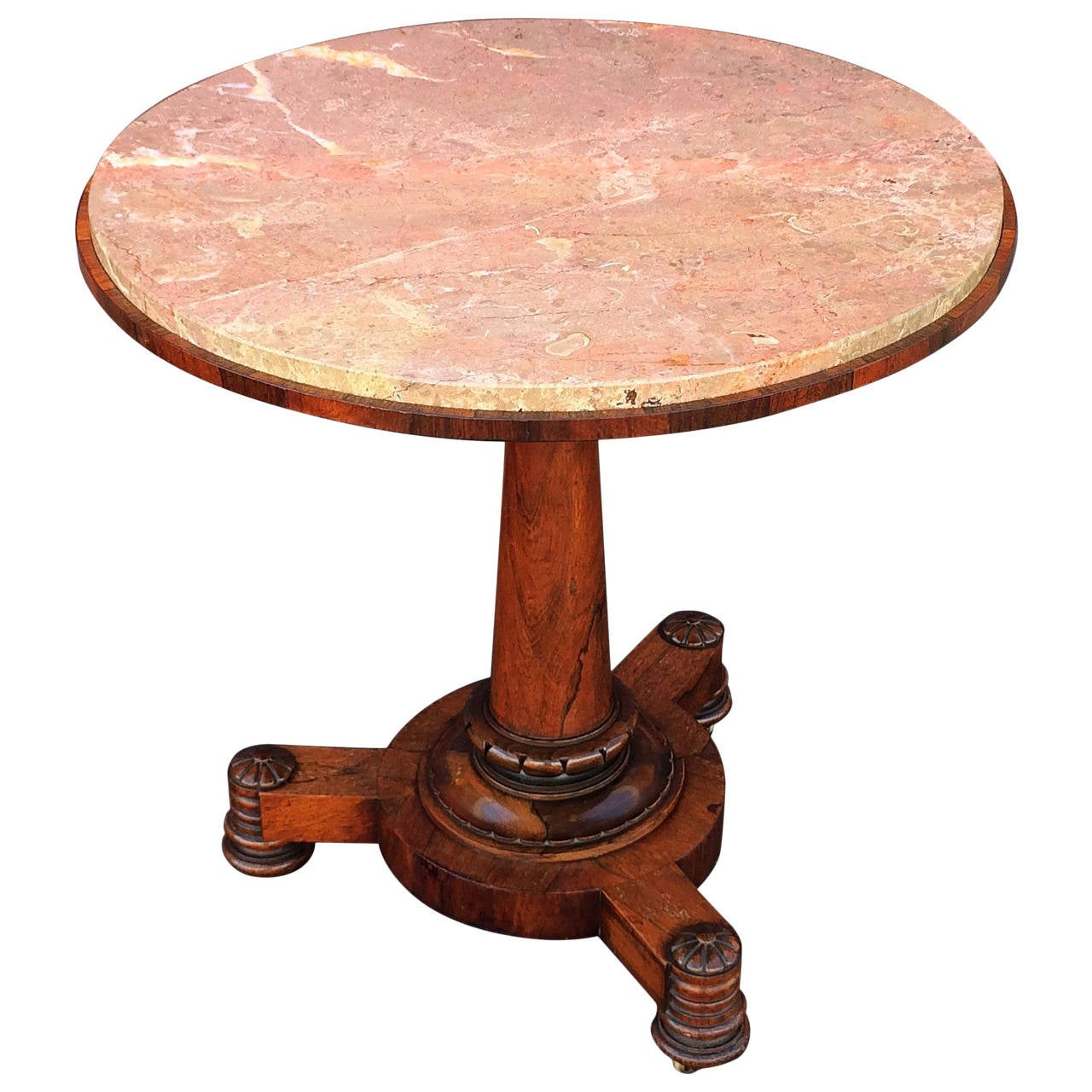 French gueridon or round table of rosewood for sale at 1stdibs for Table gueridon