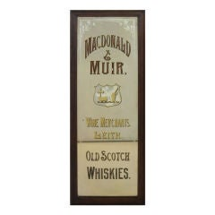 Scotch Whisky Advertising Mirror from Leith, Scotland
