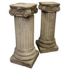 English Garden Stone Columns (Pair Available)
