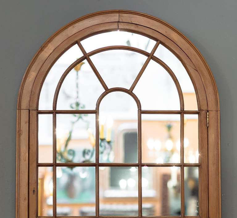 18th Century And Earlier Large Georgian Arched Window Pane Mirrors H 49 3 4