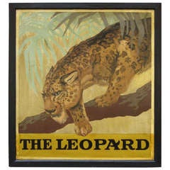 "English Pub Sign ""The Leopard"""