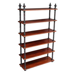 Large English Bobbin-Turned Shelf