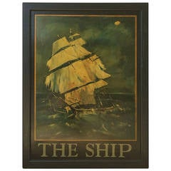 English Pub Sign, The Ship