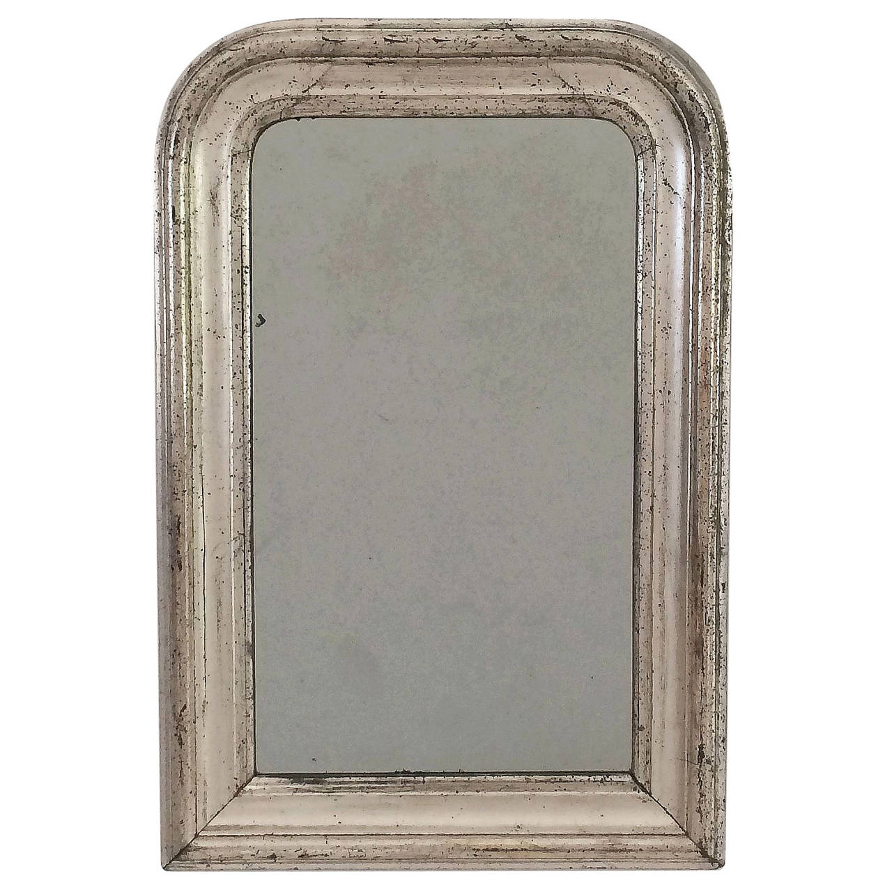 Louis philippe small silver gilt mirror h 21 3 4 x w 14 for Small silver mirror