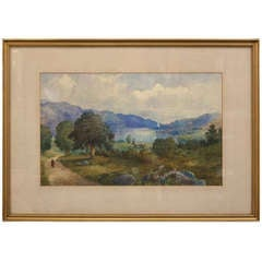 Scottish Landscape Painting in Gilt Frame (by Andrew Blair)