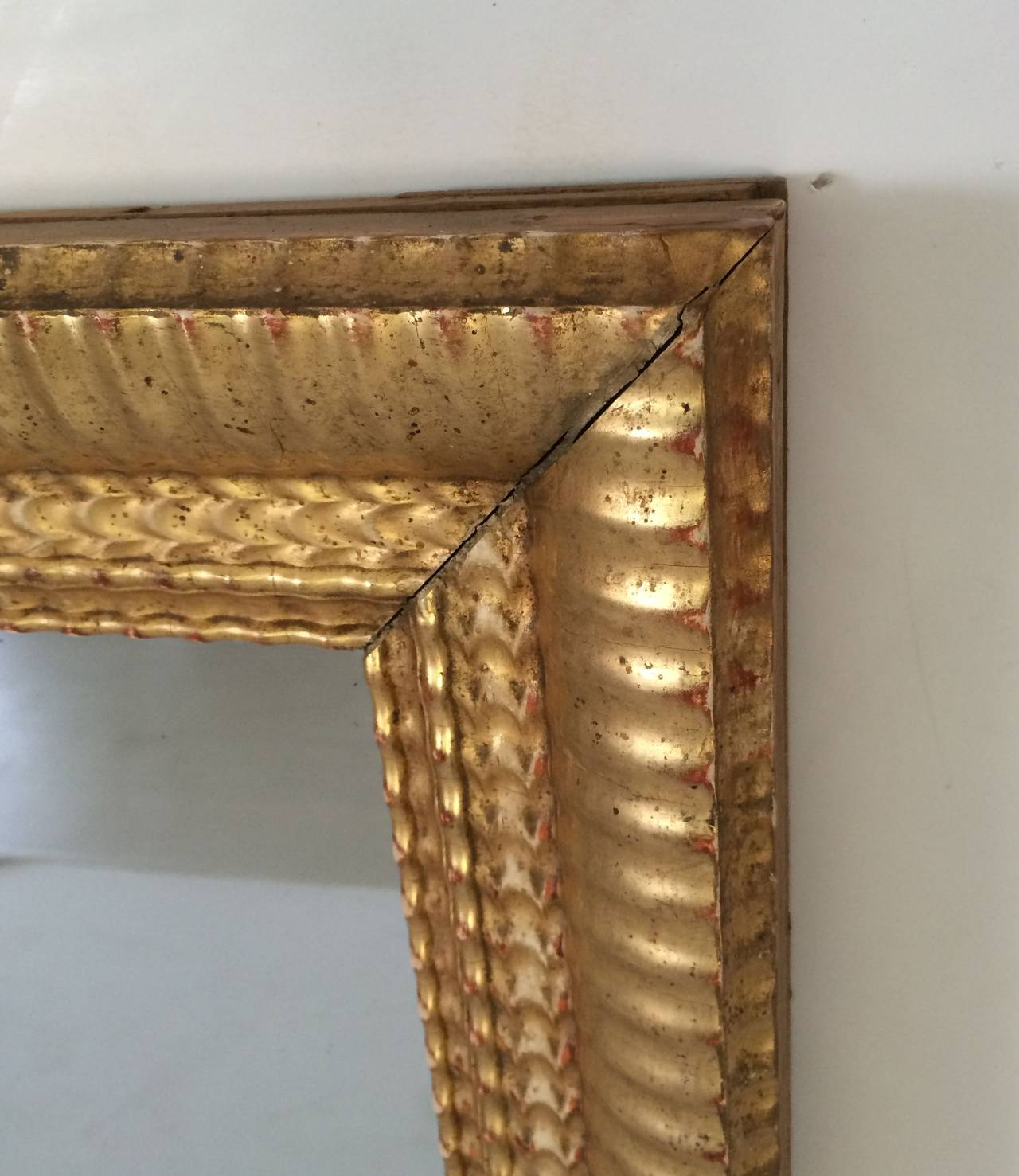 French Gilt Rectangular Wall Mirror (38 x 32) For Sale 2