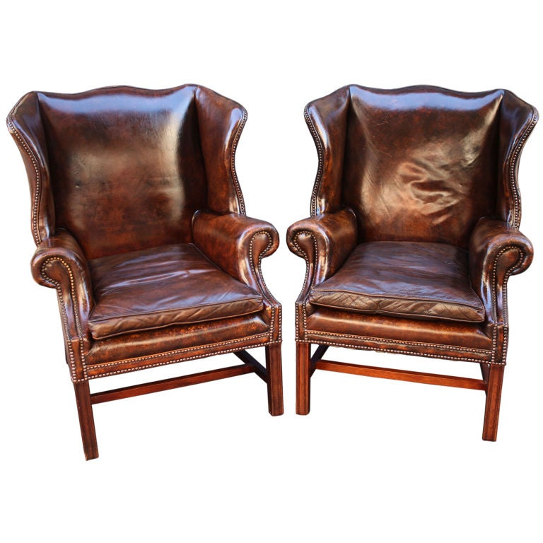 wingback chair with ottoman leather restoration hardware pair chairs sold individually for sale cape town