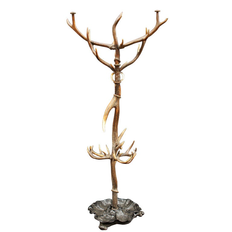 Antler Coat And Hat Rack From Scotland At 1stdibs