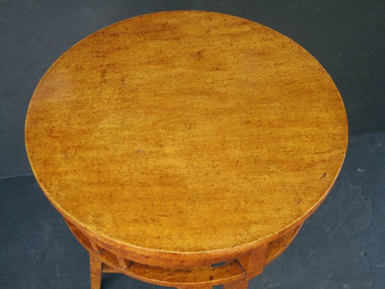 20th Century Russian Karelian Spalted Birch Table For Sale