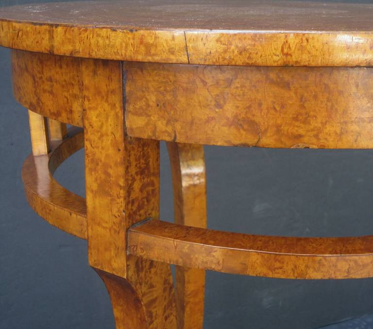 Russian Karelian Spalted Birch Table For Sale 3