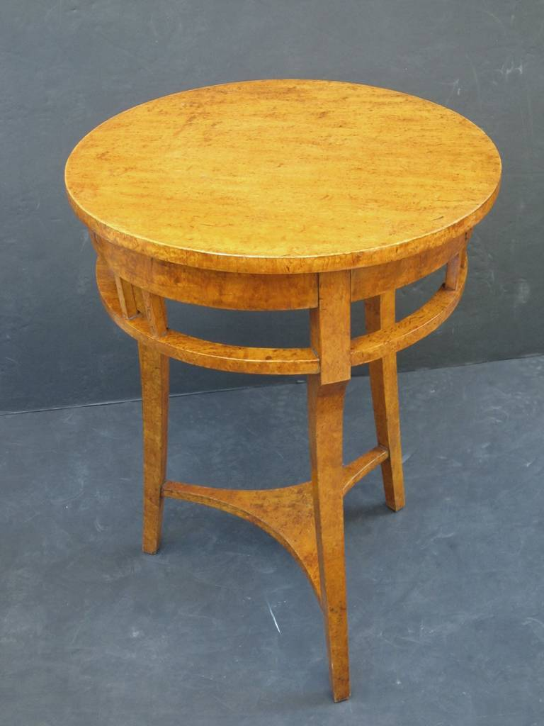 Russian Karelian Spalted Birch Table For Sale 1
