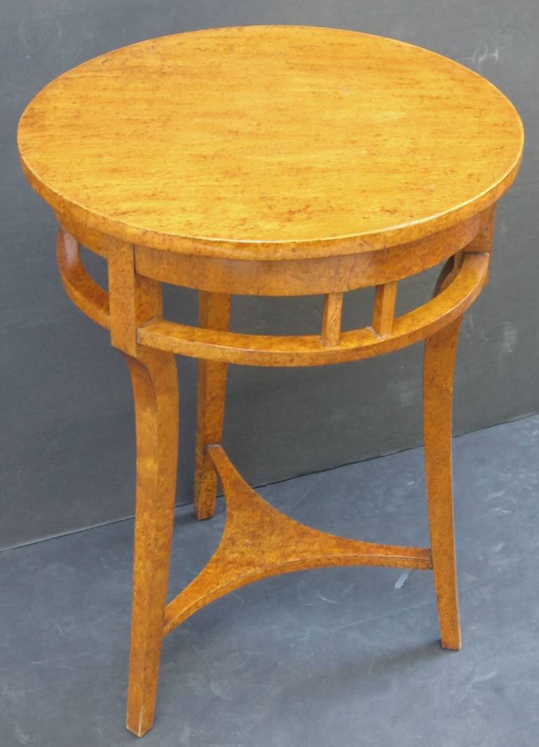 Russian Karelian Spalted Birch Table For Sale 4