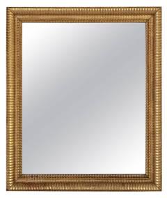 French Gilt Rectangular Wall Mirror (38 x 32)