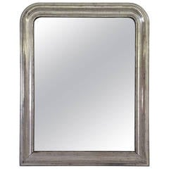 Large Louis Philippe Silver Gilt Mirror (H 44 x W 35)