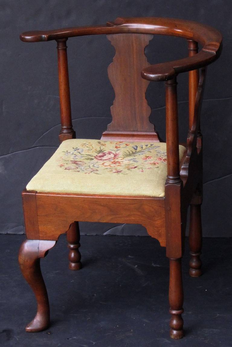 English Corner Chair From The Georgian Era For Sale At 1stdibs